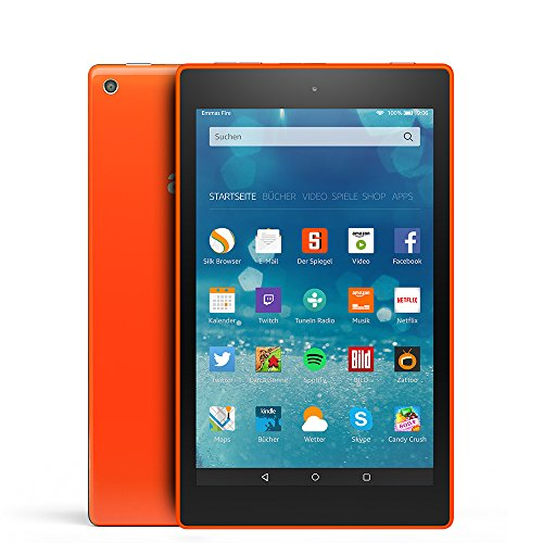 Fire HD 8-Tablet, 20,3 cm (8 Zoll), HD-Display, WLAN, 16 GB (Orange) - mit Spezialangeboten