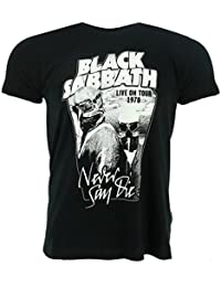 Black Sabbath Never Say Die Black T-Shirt Official Licensed Music