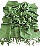 Grün Einfarbiges Design Stola Schal Umschlagtuch Schultertuch Tuch CJ Apparel