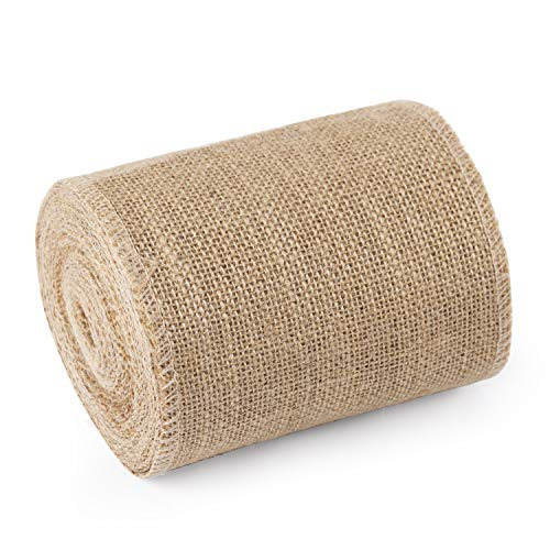 RUSPEPA 15 cm Breiten Sackleinen Stoff - Rustikale Bandrolle Für Gefallen Dekoration DIY Handgefertigte Kunsthandwerk, 10 Meter Chiffon Ribbon Roll