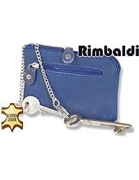 """""""Rimbaldi"""" Super Leder-Schlüsseltasche mit 2 Schlüsselketten aus weichem, naturbelassenem Kalbsleder"""