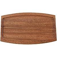 JYfff Dunkles Holz Gericht Steak Platte Holztablett Boden Kuchen Brotfrucht Japanische Sushi Platte Pizza Geschnittenen Holz Pizza Teller, G