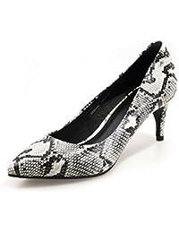 Primavera y verano zapatos puntiagudos de serpiente/Asakuchi, seguido por los zapatos metálicos/Pies femeninos zapatos