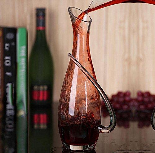 XBJ Bleifreies Glas Weinkrug, Dekanter, Wake Flagon, Wein Flagon sub, sub Wein
