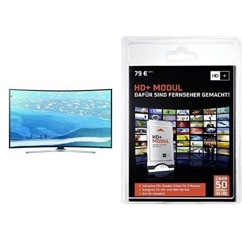 Samsung UE65KU6179UXZG 165,1 cm (65 Zoll) Curved Fernseher (Ultra HD, Triple Tuner, Smart TV)+ HD PLUS CI+ Modul für 6 Monate (inkl. HD+ Karte, optimal geeignet für UHD, nur für Satellitenempfang) Bundle
