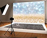 YongFoto 2,2x1,5m Foto Hintergrund Weihnachten Vinyl Bokeh Sparkle Pailletten Leichte Glitzerpunkte Fotografie Hintergrund Foto Leinwand Kinder Fotostudio 7x5ft