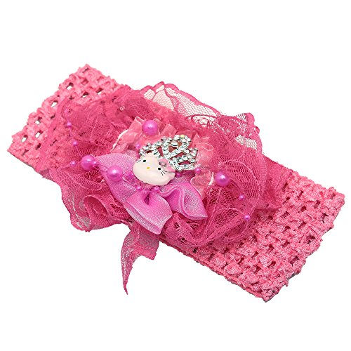 Little Ballerina Princess Crown Dark Pink Headband/Crochet / Hair band For Baby Girls/Kids  available at amazon for Rs.329