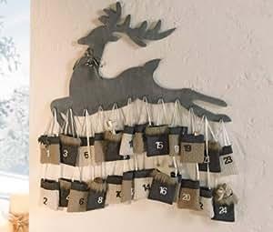 depot8 wundersch ner adventskalender rentier holz. Black Bedroom Furniture Sets. Home Design Ideas