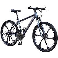 Vélo de montagne de 26 pouces, cadre en acier à haute teneur en carbone, vélo de montagne tout suspendu à 24 vitesses, VTT adulte pour homme et femme (Black)