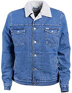 Wrangler Western Denim Jacket Mid Stone, Chaqueta para Hombre