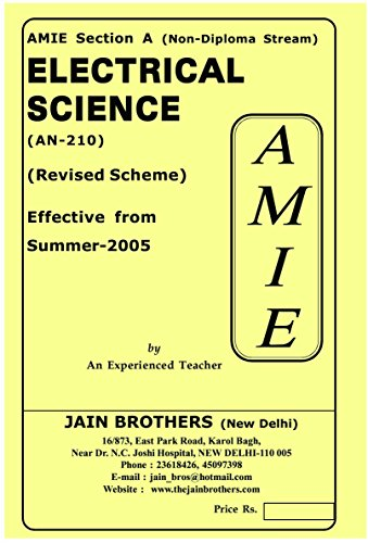 AMIE Electrical Science AN-210 Solved Paper