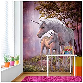 azutura Magical Unicorn & Foal Wall Mural Fantasy Photo Wallpaper Girls Bedroom Decor available in 8 Sizes XX-Large Digital