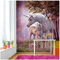azutura Unicornio mágico y Potro Fotomurales Fantasía Papel Pintado Dormitorio de Las niñas Decoración Disponible en