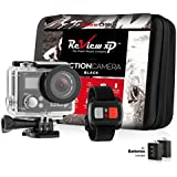 Review XP C300 Action Camera 4K 16MP Ultra HD Sports Waterproof Wi-Fi 170 Wide Angle Lens DV Digital Camcorder 2.4g Remote Control, 2 Batteries 1050mAh, 20+ Mounting Kits + Carrying Case - Black