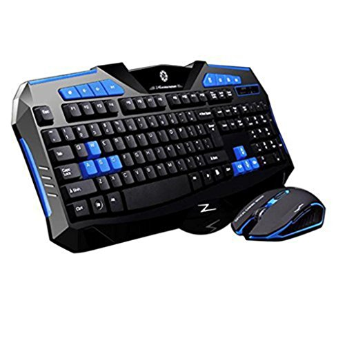 Tastatur und Maus Set, Prevently Kabellose Ultradünne Tastatur-Maus-Combo, Kabellose Touchpad-Tastatur,Gaming Wireless 2.4G Tastatur und Maus Set für Computer Multimedia Gamer - Tastaturen Kabellose Tastaturen