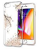 Spigen 042CS21220 iPhone 8 Hülle, iPhone 7 Hülle, Soft Flex Bumper Style, Shine Blossom, Liquid Crystal