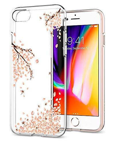 Spigen iPhone 8/7 Hülle, [Liquid Crystal] Kirschenblüte Silikon Transparent Schutzhülle für iPhone 7 iPhone 8 Case Blossom Shine (042CS21220)