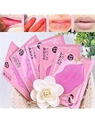 Elistelle 10 Pcs Lippe Maske Collagen Lippe Gel Masken Lippenpflege Kollagen Feuchtigkeitsspendende Rosa