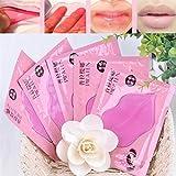 Elistelle Maschera al collagene per labbra, per la cura delle labbra, idratante, rosa, 10 pezzi