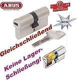 ABUS EC550 Profil-Doppelzylinder Länge 30/30mm mit 3 Schlüssel gleichschließend mit weiteren EC550 Zylindern - KEINE LAGERSCHLIEßUNG! -