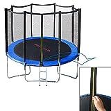 Outdoor Trampolin 305 cm Gartentrampolin mit Sicherheitsnetz und Leiter Komplett Set - 5