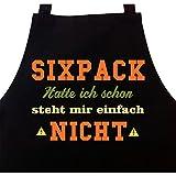 STAR WURST Schürze Sixpack Hatte Ich Schon - Grillschürze Kochschürze Geschenk für Männer