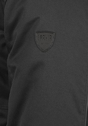 SOLID Walli Herren Parka Winterjacke mit Kapuze aus hochwertiger Baumwollmischung Black (9000)