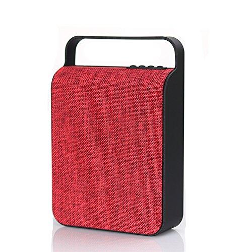 Garyesh Bluetooth Tragbar Kabellos Draussen Stereo Redner Unterstützungs-TF-Karte und U-Scheibe (Rot)