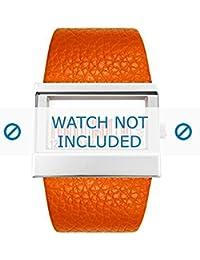 Dolce & Gabbana correa de reloj 3719240404 Cuero Naranja(Sólo reloj correa - RELOJ NO INCLUIDO!)