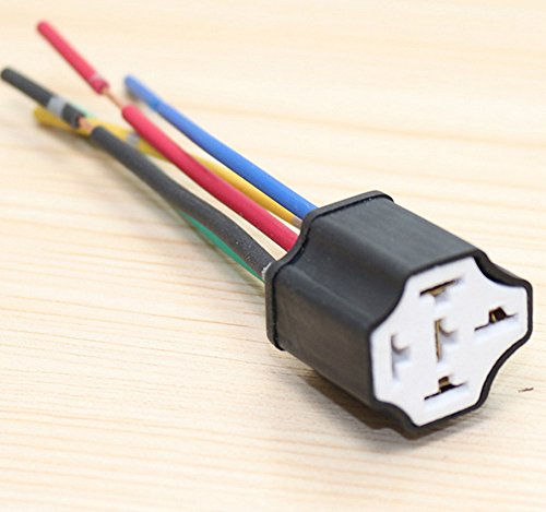 kfz Relais Sockel-Fassung für Kfz-Relais 12V 40A car relay socket 4/5 pin Diode Pin Relay Socket