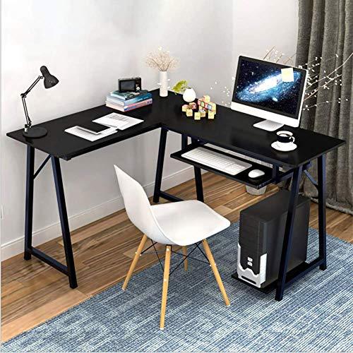 DDGOD Ecke Computerschreibtisch,L-förmige Home Office Ecke Holz tischplatte Pc-Laptop-Tisch Workstation Mit tastaturunterlage Für zuhause Office Schreiben-C -