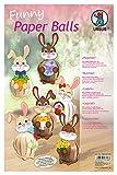 Ursus 24040099 - Funny Paper Balls Häschen, enthält Materialien für 12 Figuren