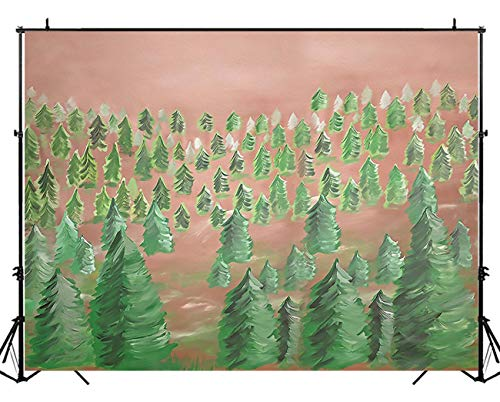 NIVIUS Foto Weihnachtsbaum Fotografie Hintergrund Winter Schnee Wald Wunderland Weihnachten Dekoration Banner Foto Hintergrund Studio 17,8 x 152,4 cm W-2000