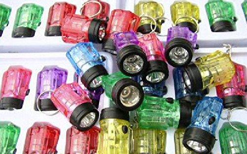 Preisvergleich Produktbild 12 x Schlüsselanhänger Taschenlampe Lampe 4 cm , hillfield® (1 -Pack = 12 Stück)