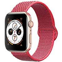 Corki für Apple Watch Armband 38mm 40mm, Weiches Nylon Ersatz Uhrenarmband für iWatch Apple Watch Series 4 (40mm), Series 3/ Series 2/ Series 1 (38mm), Hibiskus
