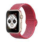 Corki pour Bracelet Apple Watch 38mm 40mm, Nylon Bracelet de Remplacement Bande pour Apple Watch iWatch Séries 4 (40mm), Séries 3/ Séries 2/ Séries 1 (38mm), Hibiscus