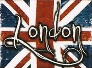 PLAQUE METAL 20X15cm LONDON LONDRES ANGLETERRE