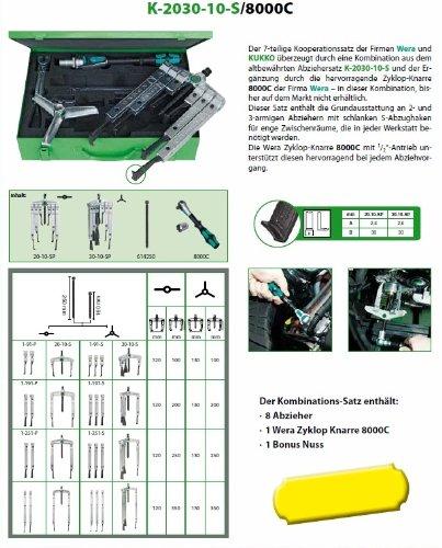 Preisvergleich Produktbild KUKKO Kombinationsabziehersatz K-2030-10-S / 8000C inkl. WERA 8000C