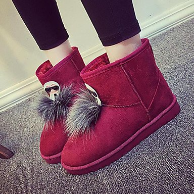 RTRY Scarpe Donna Tessuto Autunno Inverno Lanugine Fodera Comfort Novità Snow Boots Fashion Stivali Stivali Tacco Piatto Round Toe Stivaletti/Stivaletti US5.5 / EU36 / UK3.5 / CN35