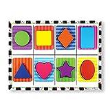 Melissa & Doug Holzpuzzle mit klobigen Teilen - Geometrische Formen (8 Teile)