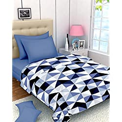Renown Products Adorable Zig Zag Design Print Reversible Single Bed AC Blanket / Dohar / Quilt ( Pack Of 1 )
