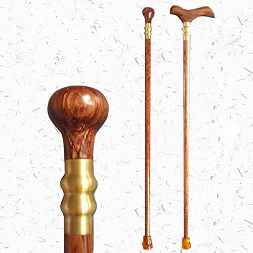 Bois Cane Carvings bois naturel et artisanat main cadeau béquilles en bois poirier fleur de canne walker