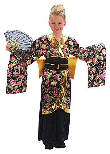 Kinder Geisha Kostüme (Geisha-Mädchen - Kinder-Kostüm - Klein - 110 bis 122)