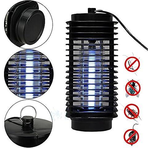 YBB Mosquito Lamp tueur Mosquito, Electronic Insect Killer Bug Zapper Trap Lamp Lampe UV, Safe High Effective - Killing Mosquitoes à un sommeil silencieux, à l'intérieur et à l'extérieur
