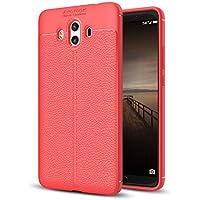 Funda Huawei, iPhone Huawei Funda Cover Carcasa Ultra Fina Caso Anti-Arañazos Silicona TPU Protectora [Mirada Cuero] Funda Case para iPhone Huawei