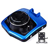 PNCS Caméra de Bord Grand Angle 1080P HD caché Idéal pour Les enregistrements de Conduite Enregistrement d'accident,Blue