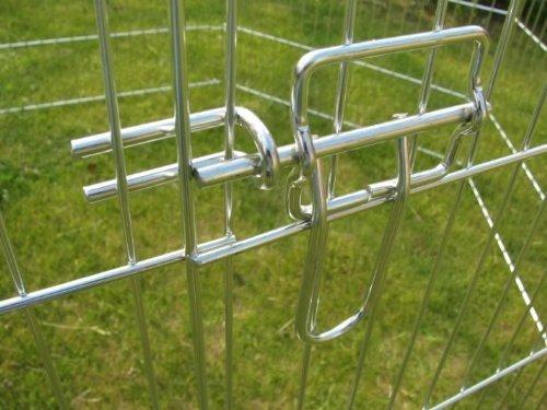 Heritage Cages 139,7cm Outdoor Octagon Kaninchen/Meerschweinchen Run Käfig, für Hund, Katze, Huhn, PET Pen/Laufgittereinlage mit Abdeckung für Sonnenschutz, 140cm, silber 8Panel -