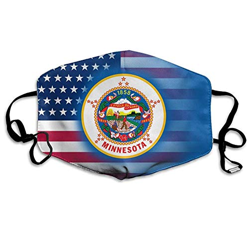Fashion Outdoor Mouth Mask Face Masks with Design USA Minnesota State Flag Anti-dust Mouth Mask Face Masks Mouth Cover Man Woman -