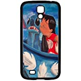 S4 i9000 Funda,Excellent Protection,Provides protection and prevents scratches,pc black Funda for samsung S4 i9000,Lilo and Stitch in tea cup JZZDEJZW017929