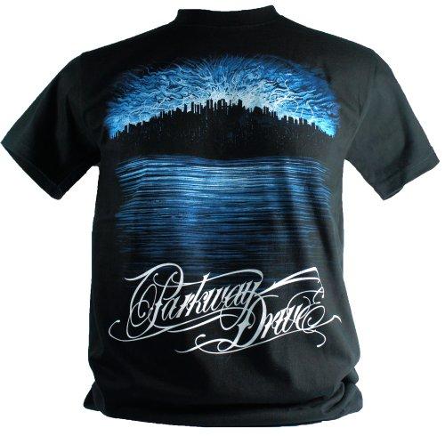 Parkway Drive-Maglietta da uomo nero Deep Blue Medium Size M